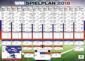 Close Up Fusball Wm Spielplan  In Russland Mit Allen Gruppen Und Spielen Xxl