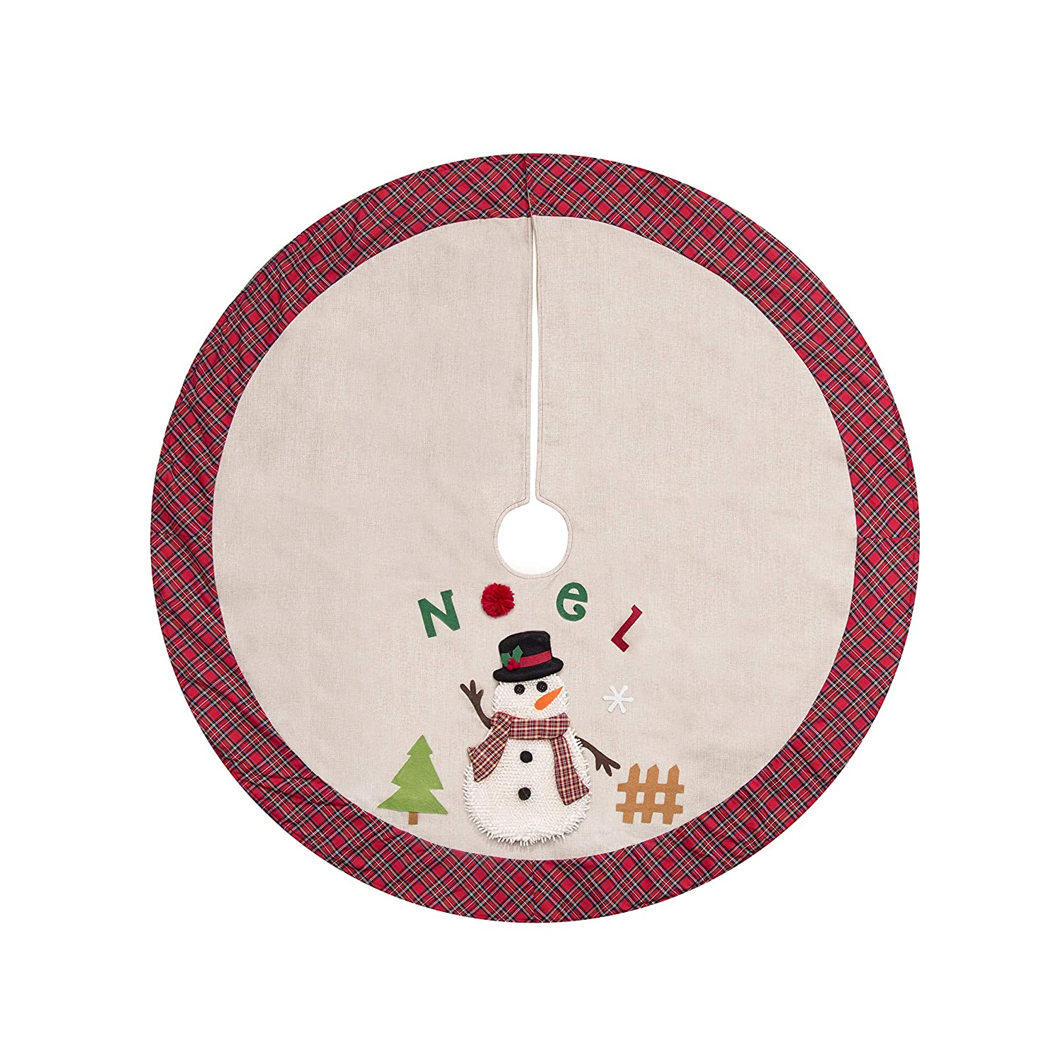 AUTUWT Burlap Tree Skirt Christmas 48