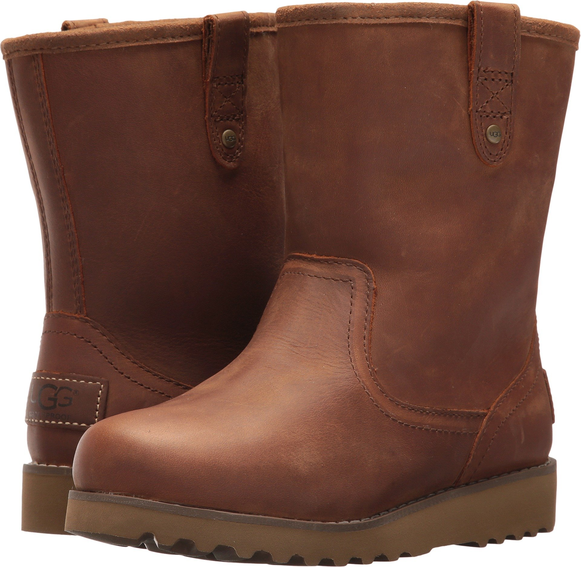 UGG Boys K Redwood II Pull-on Boot, Chestnut, 1 M US Little Kid
