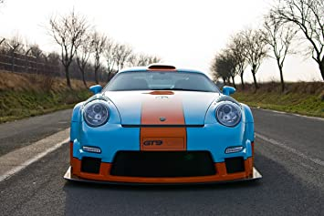 9ff GT9-CS based on Porsche 911 997 Turbo (2012) Car Art Poster