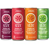 IZZE Sparkling Juice, 4 Flavor Variety Pack, 8.4 oz Cans, 24 Count