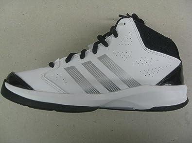 adidas isolation k basketball - schuh weiß / schwarz / graue