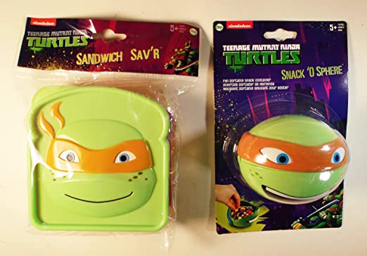 Set de 2 Michelangelo Teenage Mutant Ninja Turtles Sandwich ...