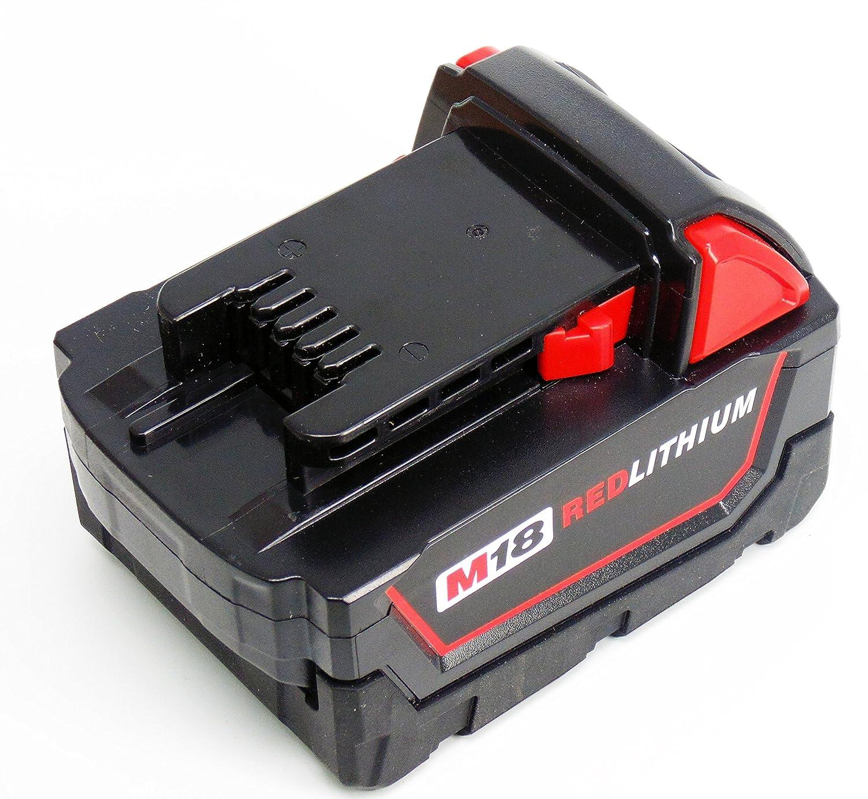 18V 5000mAh Reemplace la bater/ía para Milwaukee M18 48-11-1828 48-11-1840 C18B M18BX Li18 M18B4 M18 XC Herramienta Milwaukee M18