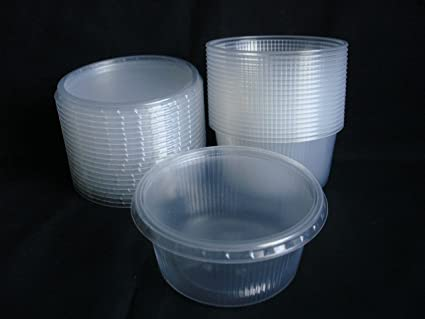 e83c355adef2 Set 20pcs 8 oz (250ml) Small Disposable Plastic Round Containers ...