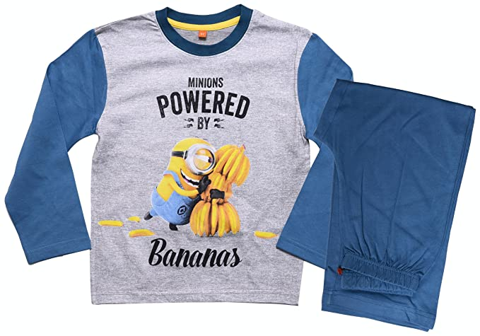 Despicable Me Minions Official - Pijama dos piezas - para niño Azul azul claro 7 años: Amazon.es: Ropa y accesorios