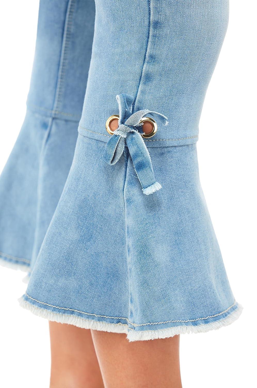 Amazon.com: Luxe Denim Slims Crop Jeans dobladillo de Bell ...