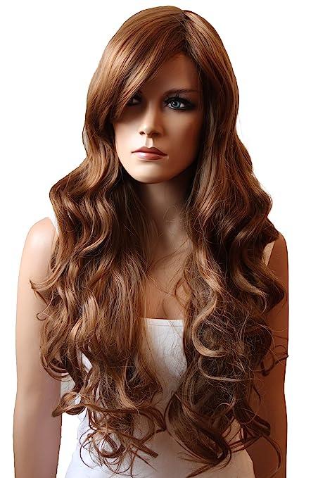 PRETTYSHOP Parrucca da donna Fashion Capelli Lunghi ondulato 80cm  resistente al calore FP712 vari colori c353e82c7234