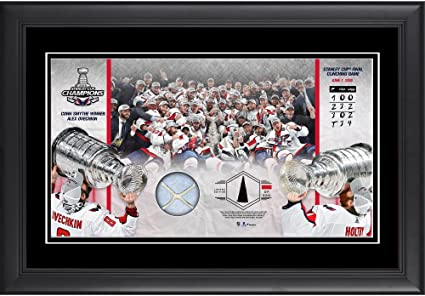 2ee860ce1 Washington Capitals 2018 Stanley Cup Champions Framed 10 quot  x 18 quot   Collage Second Edition with