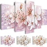 murando® Quadro 100x50 cm - Tre colori da scegliere - 5 Parti - Quadro su tela fliselina - Stampa in qualita fotografica - fiori b-A-0297-b-p 100x50 cm