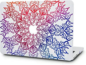 """KECC Laptop Case for MacBook Air 13"""" Plastic Case Hard Shell Cover A1466/A1369 (Colorful Lace)"""