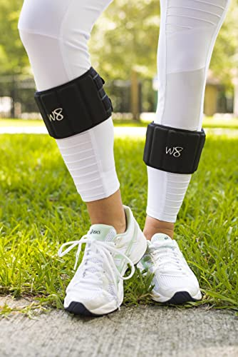 W8FIT Adjustable Ankle Leg Weights up to 3-lbs per Ankle