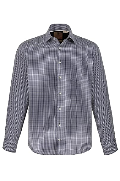 YUNY Mens Adult Relaxed-Fit Thickening Long Sleeves Woven Shirt 17 XL