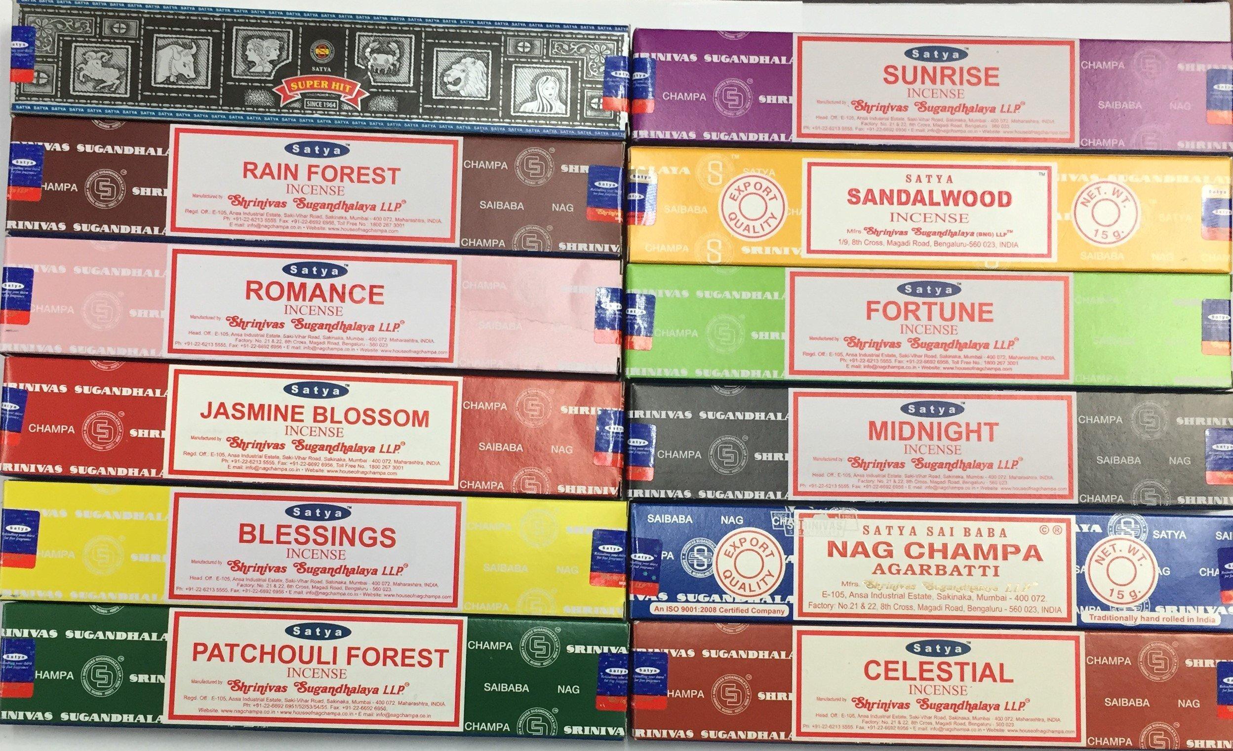 Satya surtido de inciensos 12 cajas de 15g product image