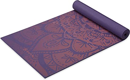 Amazon Com Gaiam Yoga Mat Premium Print Extra Thick Non Slip Exercise Fitness Mat For All Types Of Yoga Pilates Floor Workouts Athenian Rose 6mm Sports Outdoors