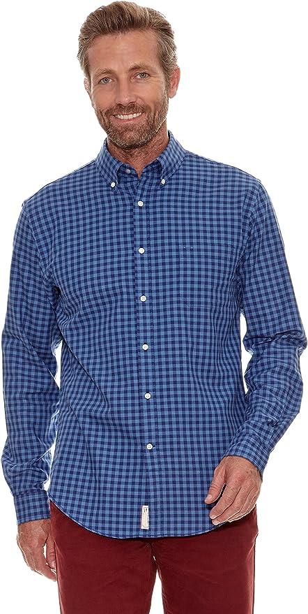 Cortefiel Camisa Oxford Azul Marino S: Amazon.es: Ropa y accesorios