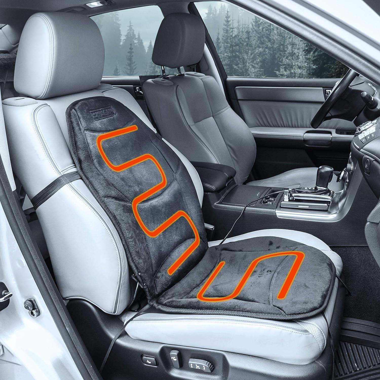 HealthMate IN9438 Velour 12V Heated Seat Cushion