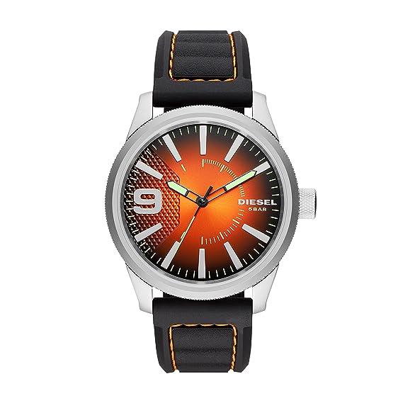 Diesel Reloj Analógico para Hombre de Cuarzo con Correa en Silicona DZ1858