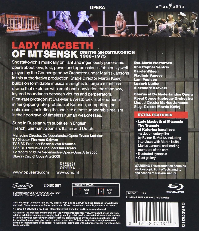 Amazon.com: Lady MacBeth of Mtsensk [Blu-ray]: Shostakovich ...