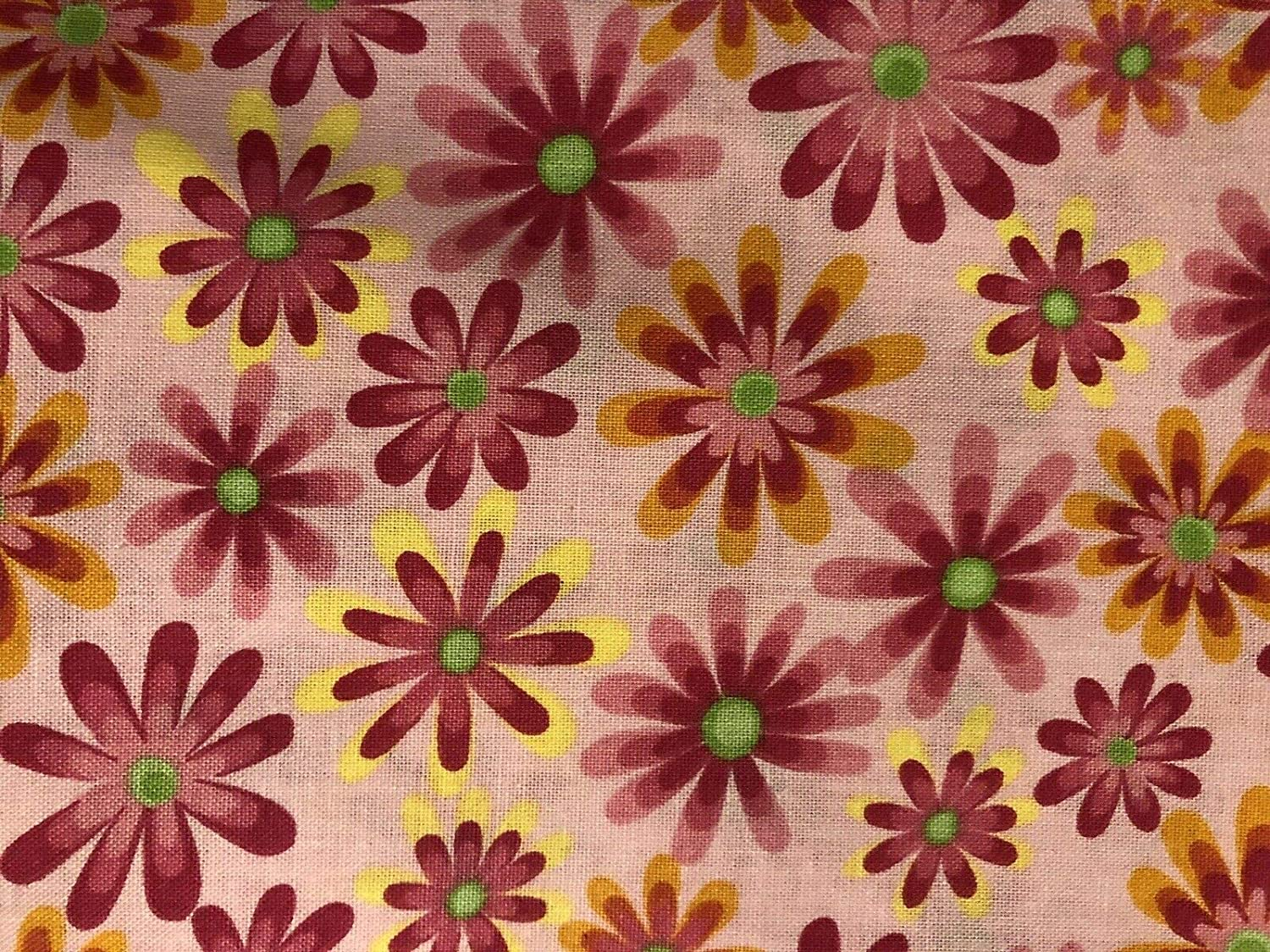 Hot Pink Flower Power Peek-A-Boo Iron On Patches by Holey Patches 2-4 x 4