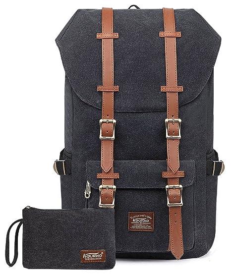 813db4309ac6 KAUKKO Rucksack Studenten Backpack 17 Zoll für 15  quot  Notebook Lässiger  Daypacks Schüler Bag
