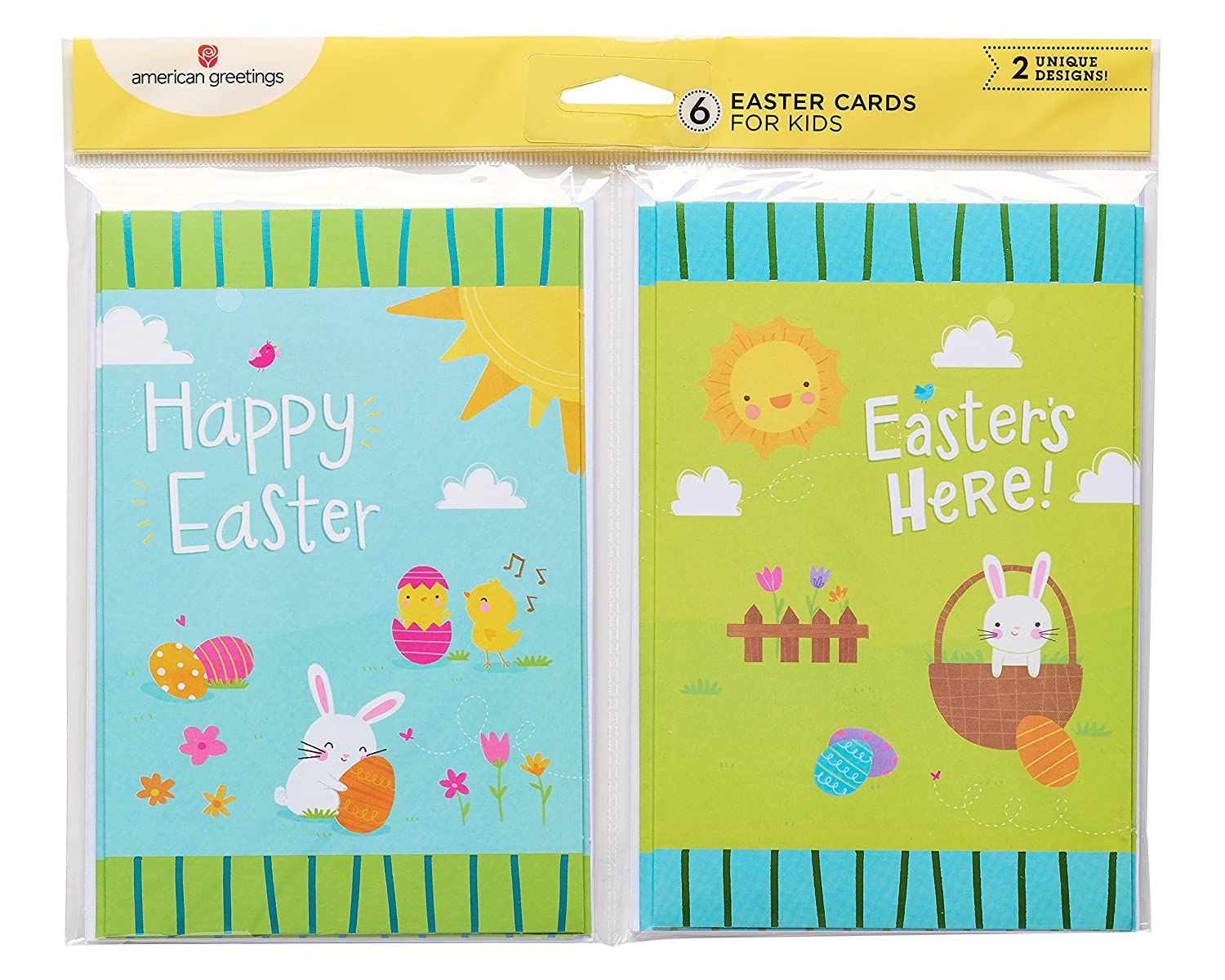 Amazon American Greetings Blue And Green Bunny Easter Cards 6