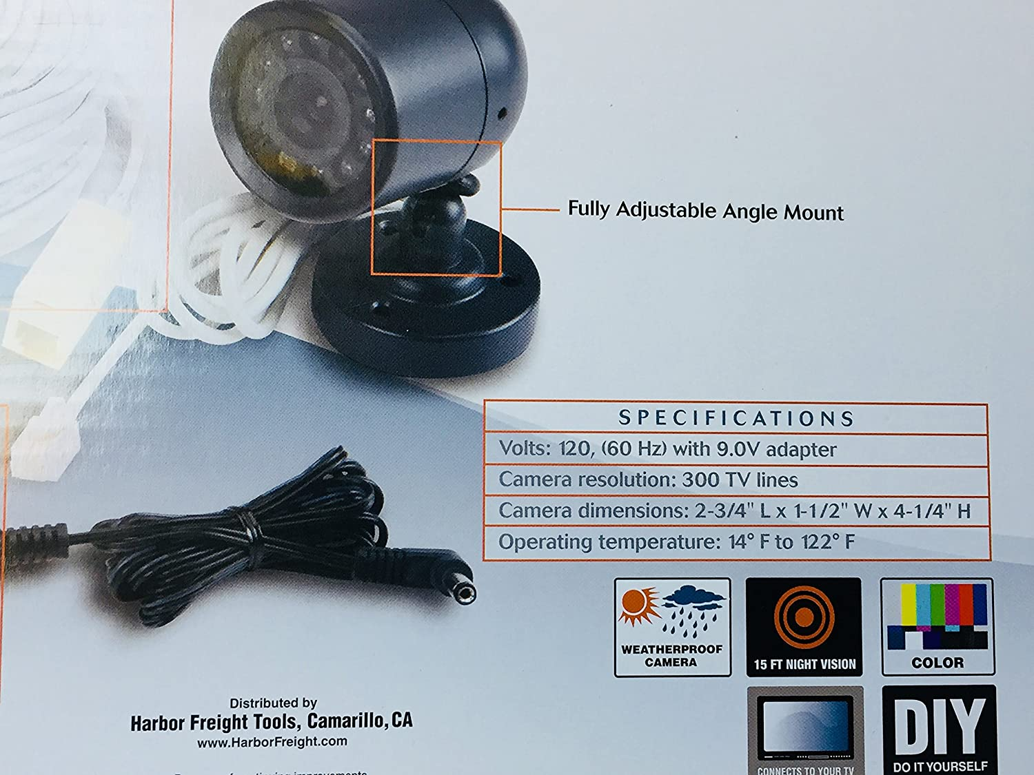 Weatherproof Color Security Camera With Night Vision Harbor Freight Wire Diagram Bullet Cameras Photo