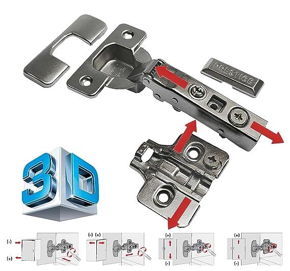 GTV 3d cierre suave Bisagra Set con ajustable soporte de pared/para ...