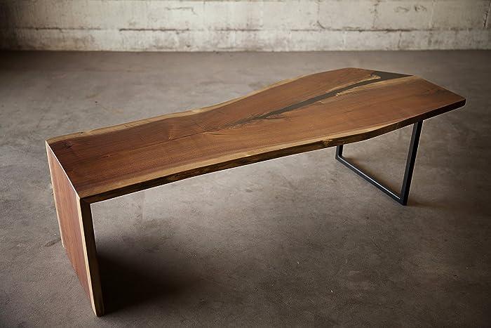 Pleasing Amazon Com Waterfall Edge Walnut Bench Or Coffee Table Cjindustries Chair Design For Home Cjindustriesco