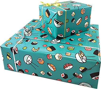 1 BLUE GIFT TAG 5 SHEETS OF THICK GLOSSY 18TH BIRTHDAY WRAPPING PAPER