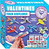 JOYIN 28 Pack Valentines Day Gifts Cards, Valentine's Greeting Cards for Kids with Foam Airplanes Valentine Classroom…