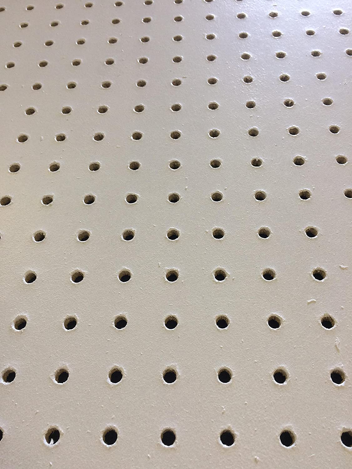 6mm White Pegboard 60 x 60cm 25.4mm Hole Centre 7.1mm hole Unbranded