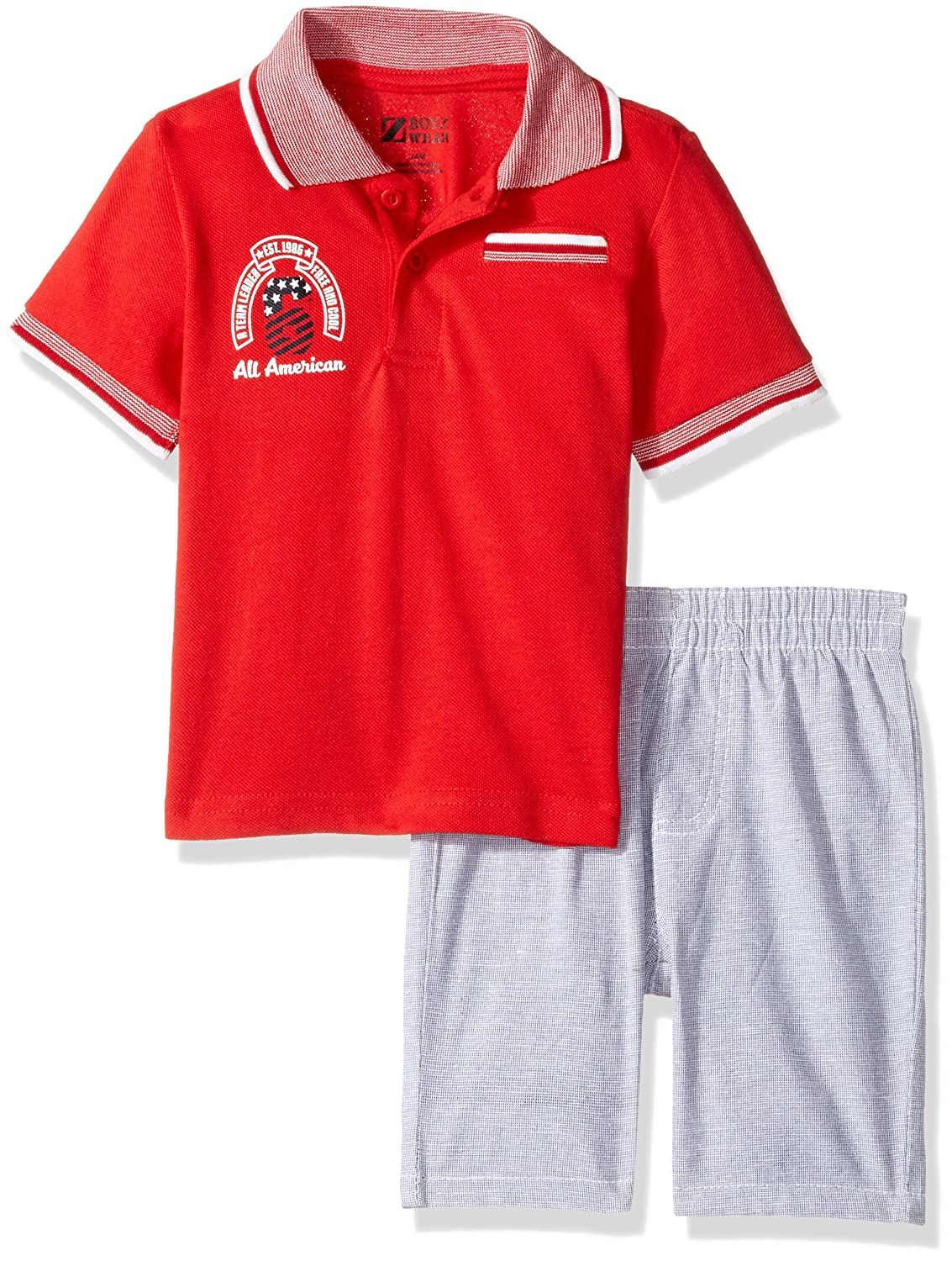 Nannette Baby Boys' 2 Piece Polo Shirt and Woven Short Set 548