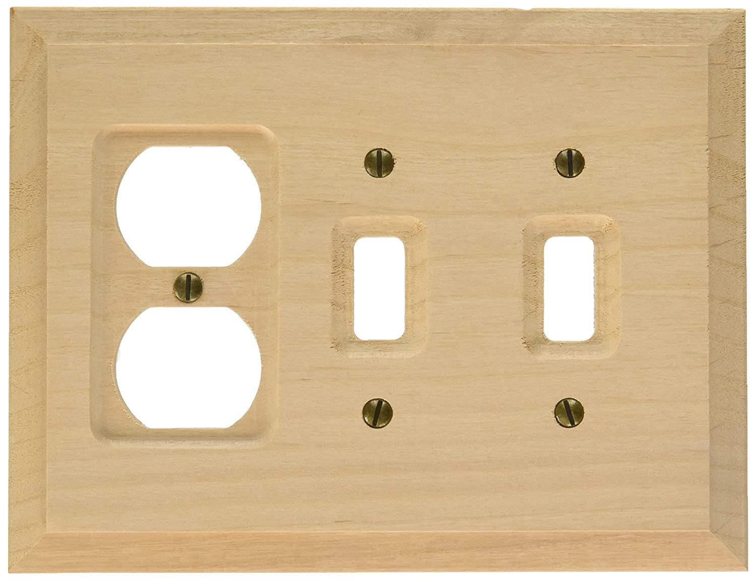 amerelle 180ttd baker unfinished alder wood 2 toggle 1 duplex wall plate amazoncom