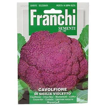 Seeds Of Italy Ltd Franchi Choux Fleur Violet De Sicile Amazon Fr