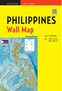 Philippines Political Map Paper Laminated Ga A1 Amazon Co Uk