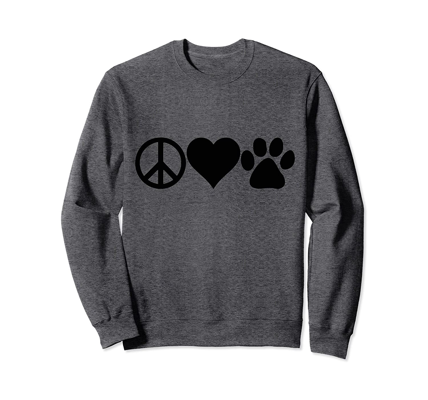 Peace Love Paws Sweatshirt for Girls,Boys,Teens, Men & Women-alottee gift