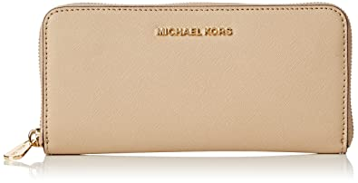 35f68205a11d Image Unavailable. Image not available for. Colour: Michael Kors Women's Jet  Set Travel Saffiano Leather Continental Wallet ...