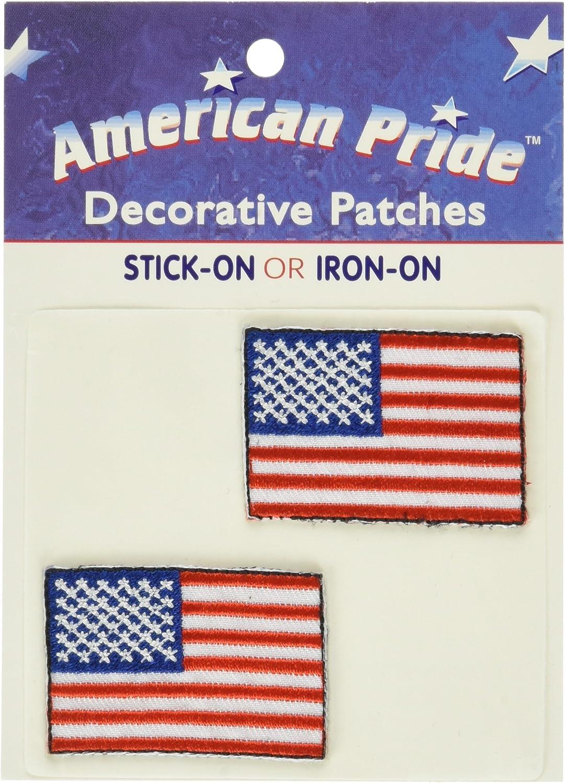 Thermoweb American Pride Decorative Patches-Small American Flags 2/Pkg