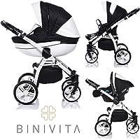 Bini Vita® Isabel White Collection cochecito cochecito combinada 3 en 1 + Baby Carcasa +