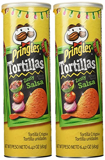 Pringles Tortillas Zesty Salsa Potato Chips-Limited Time Only (Pack of 2)