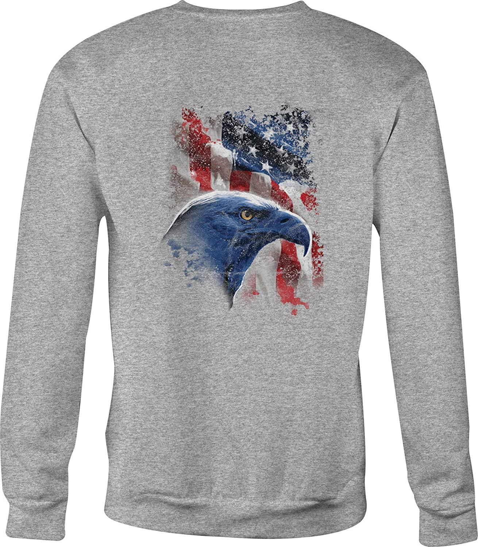 Crewneck Sweatshirt American Eagle /& Vintage Biker Mechanic Military Pride