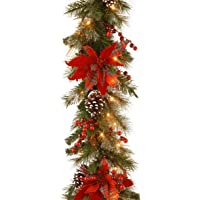 Amazon Price History:National Tree 24 Inch Decorative Collection Tartan Plaid Wreath with Cones