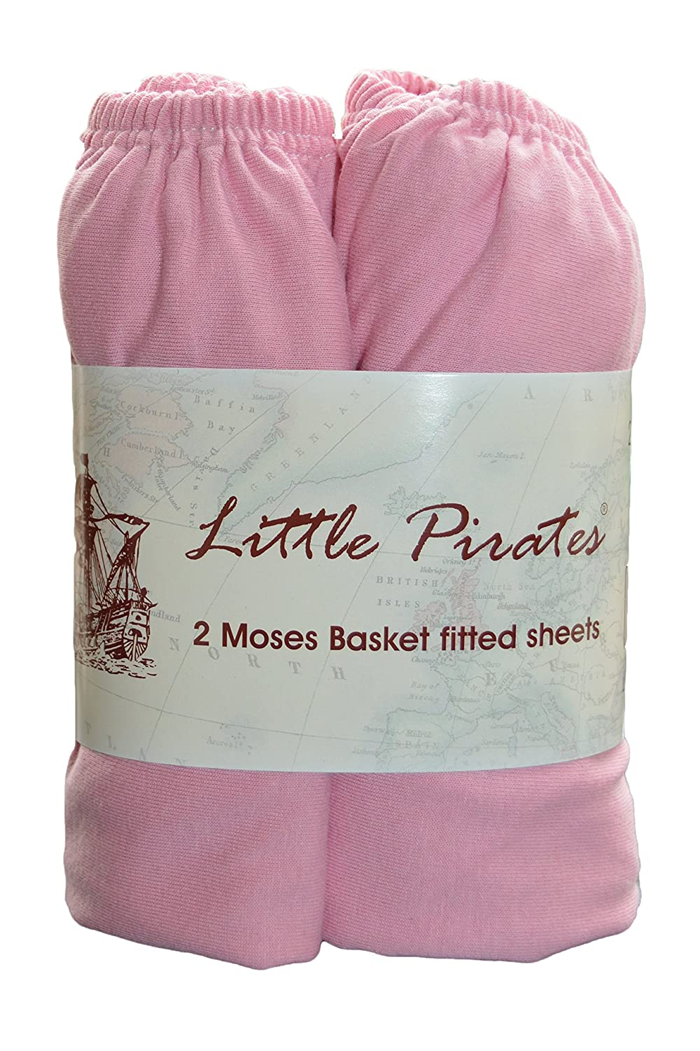 2 Pack Baby Pram/Moses Basket Oval Jersey Fitted Sheet 100% Cotton Pink 12'x30' (30x75cm) 91x5f5VrrhL