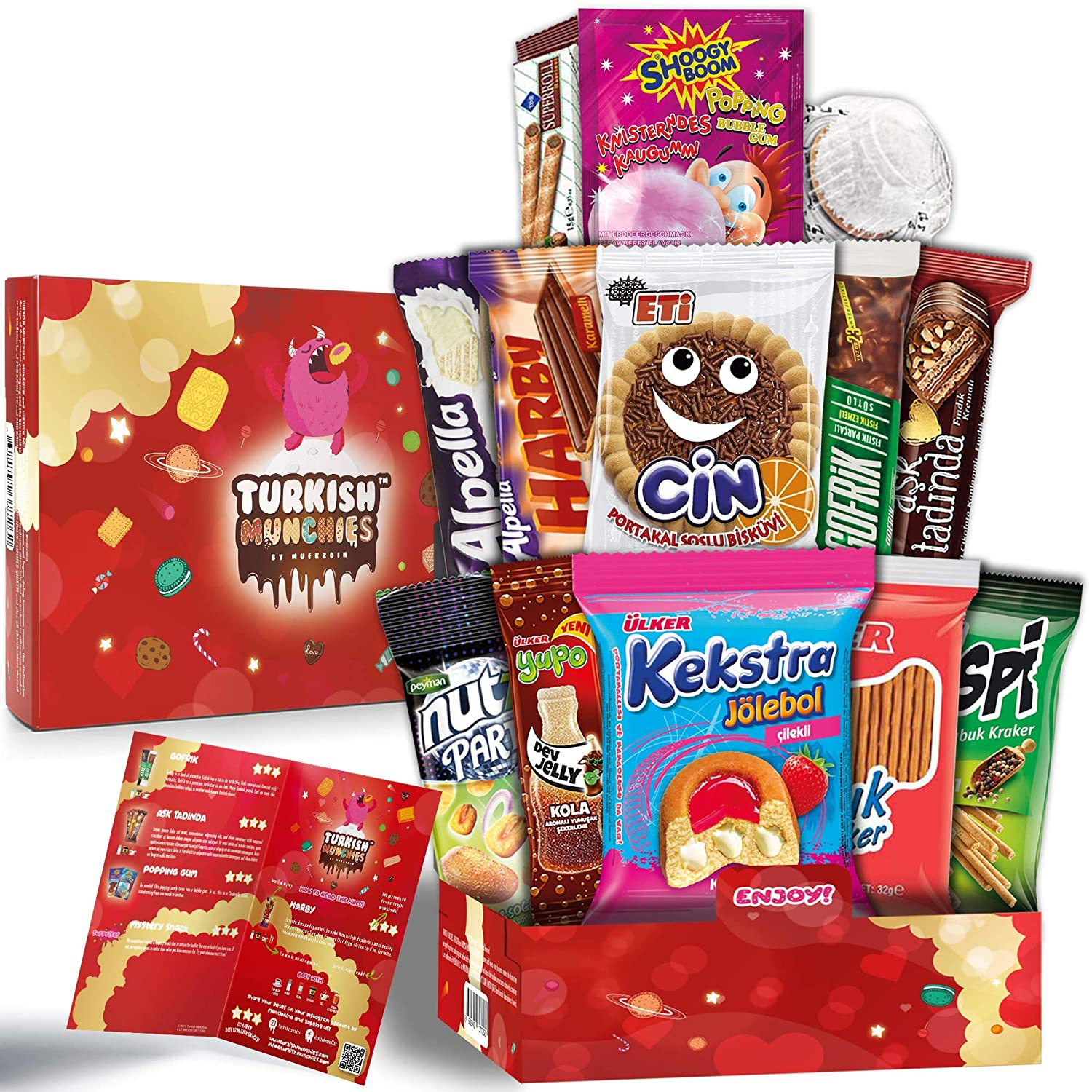 Midi Special Premium International Snacks Variety Pack Care Package for Adults and Kids, Ultimate Assortment of Turkish Treats, Mix variety pack of snacks, Best Foreign Candy or Foreign Snacks Box