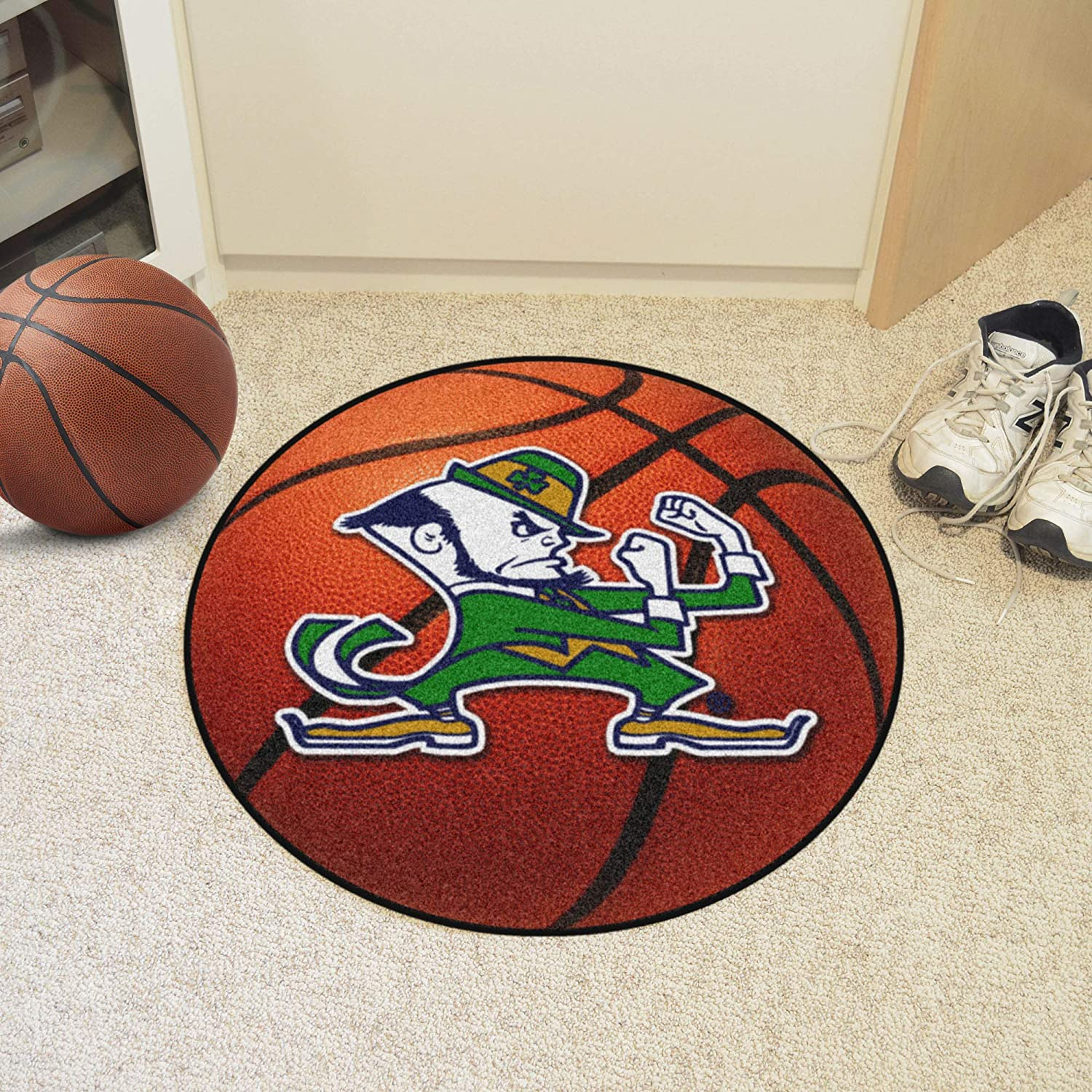 FANMATS NCAA Notre Dame Fighting Irish Nylon Face Ultimat Rug