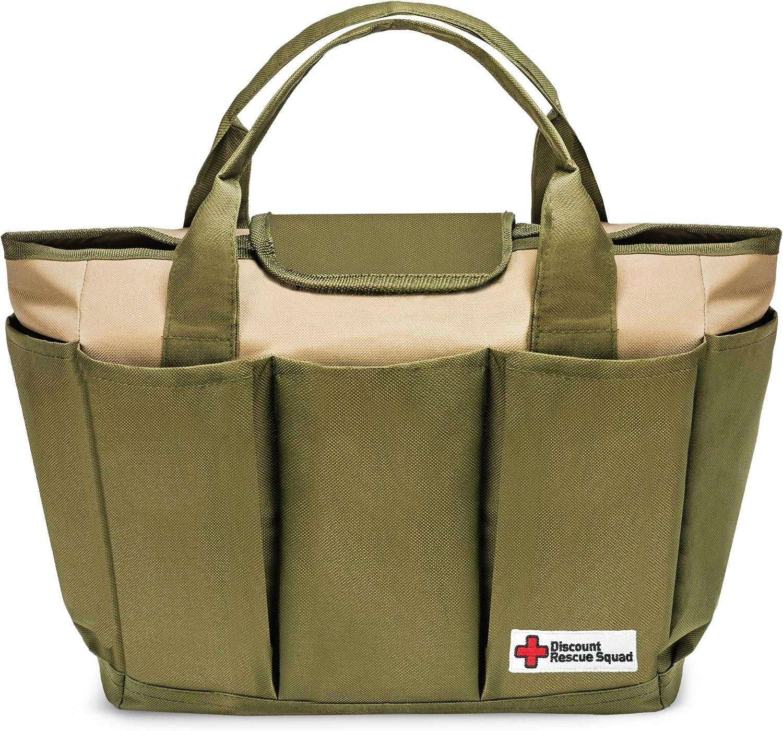 DRS Garden Tool Bag & Garden Tote, Garden Tool Organizer with 8 Gardening Tool Storage Pockets
