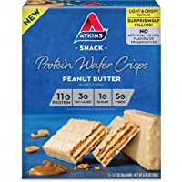 Atkins Protein Wafer Crisps, Peanut Butter, Keto Friendly, 5 Count