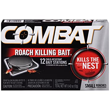 1 Box Of 6 Combat Cockroach Bait Stations At Any Cost Lower Price with 6 For $ 9 Kills The Roach Nest