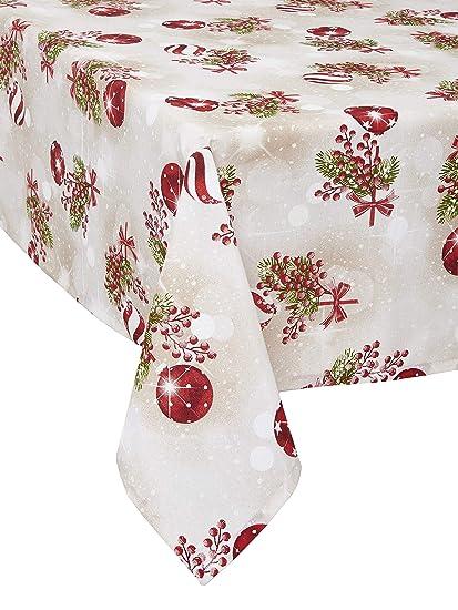 Shabby Chic E Moderno.1kdreams Tovaglia Natalizia In Cotone Design Raffinato E Moderno Shabby Chic In Chiave Moderna Made In Italy 130x320 Cm 51x126 In